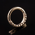 PRE-ORDER 14k Yellow gold beaded clicker