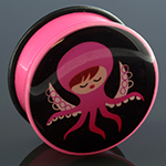 Acrylic octopus girl plug