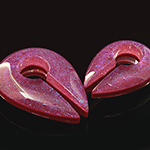Fused dichroic keyhole weights (Magenta)