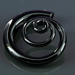 Pyrex glass 3D spirals (Midnight black)