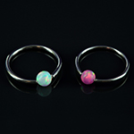 Captive with synthetic opal bead