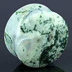 Green tree agate plugs