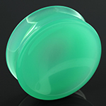 Concave mint opalite plugs