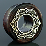 Ebony wood and metal lotus plugs