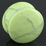 Lemon chrysoprase plugs