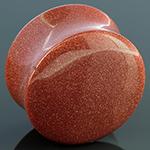 Cinnamon goldstone plugs
