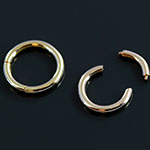 14k yellow gold segment ring