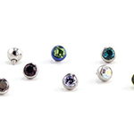 PRE-ORDER steel low profile faceted gem ball (internal)