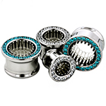 PRE-ORDER Steel gemmed eyelet with silver bullets