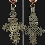 Silver Ethiopian crosses with copper coils