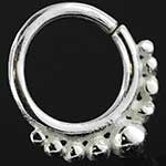 Sterling silver dots seamless septum ring