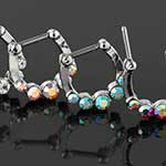 Five gem septum clicker