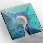 Fused dichroic square weights (Smoked turquoise)