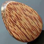 Cross cut Coconut wood teardrop plugs