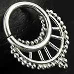 Sterling silver spindle seamless septum ring