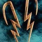 Zebrawood lightning bolt design