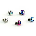 PRE-ORDER Titanium micro gem threaded end