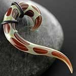 Pyrex tail spirals (Giraffe print)