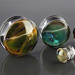 Pyrex glass Gaia plugs (Mountains)