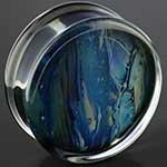 Pyrex glass Gaia plugs (Coastal)