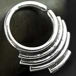 Sterling silver stacked seamless septum ring