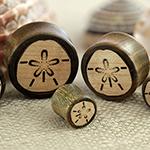 Verawood sand dollar plugs