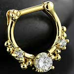 Gold colored Shining septum clicker