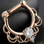 Rose gold colored Fairytale septum clicker