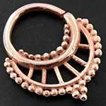 Rose gold plated tiara seamless septum ring