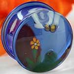 Pyrex glass landscape plugs