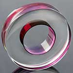 Glass lifesaver plugs (Transparent fuschia)