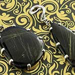 Sterling silver and rutilated quartz black onyx doublet weights