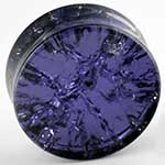 Glass purple cracked plugs