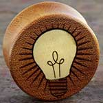 Osage orange wood Lightbulb plugs