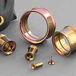 Titanium internally threaded eyelet (Rose gold)