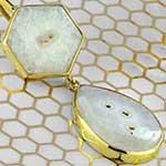 Solid brass and quartz pendelum weights
