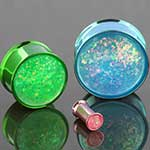 Color plated steel  synthetic opal eyelets