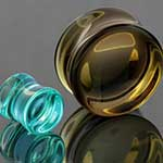 Glass concave plug