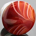 Single flare red agate plug