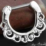 Swirl septum clicker ring