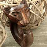 Ebony wood Egyptian cat design