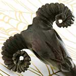 Ebony wood Rams head design