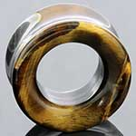 Double flare yellow tiger eye eyelets