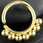 14K Gold plated beaded seamless ring
