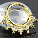 14K Gold plated gemmed seamless ring