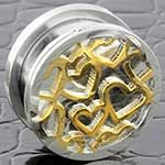 Screw fit hearts plug