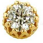 PRE-ORDER 18k gold king end