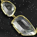 Solid brass with faceted quartz double dangle weights