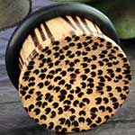 Single flare Palmwood plug
