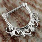 Wild heart septum clicker ring